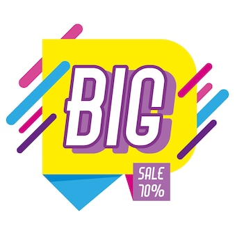 Big sale shopping discounts colorful poster