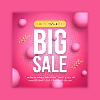 Big sale social media banner