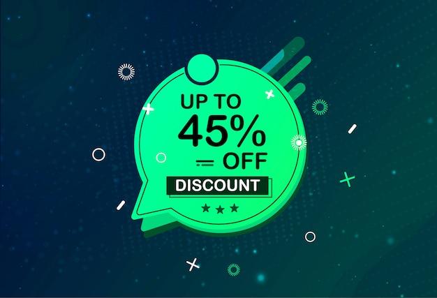 Big sale special offer banner design shape promotion
