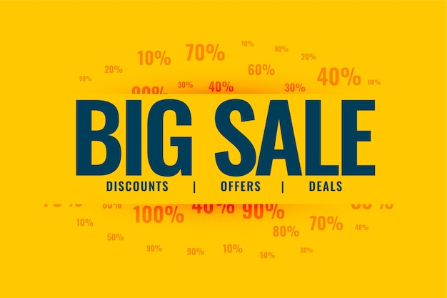 Big sale special offer banner design template