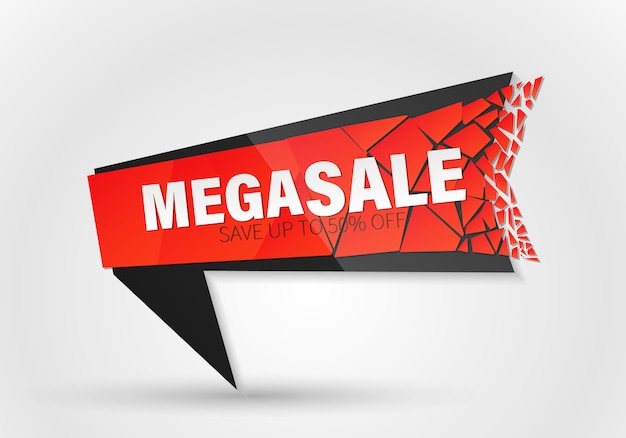 Big sale, special offer banner with explosion effect