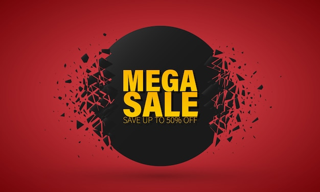 Big sale special offer. banner with explosion effect.