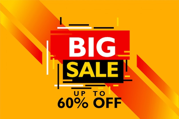 Big sale special offer design template for promotion