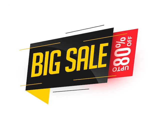 Big sale stylish modern banner design