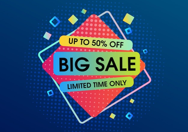 Big sale template design