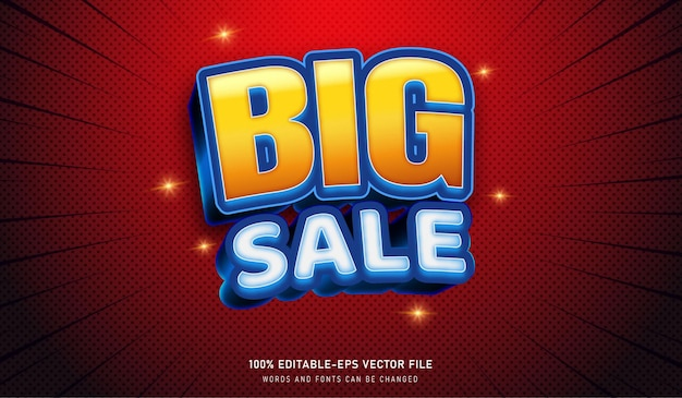 Big sale text effect editable fonts good for sales