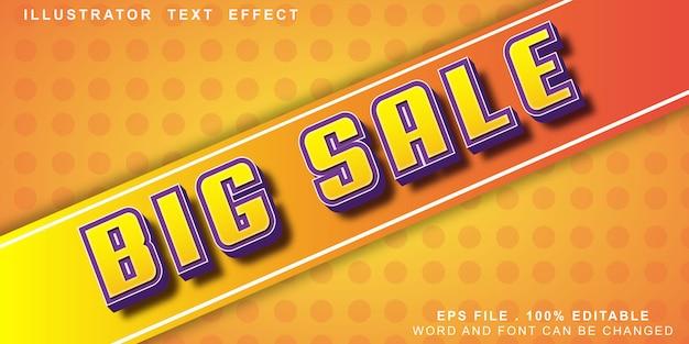 큰 판매 텍스트 효과 편집 가능