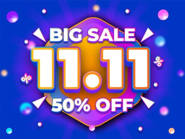 Big sale text effect