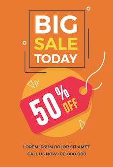 Big sale today flyer.