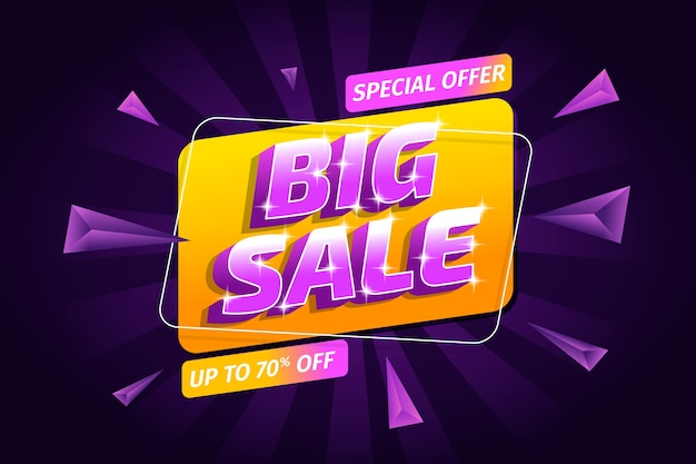 Big sale and triangles background