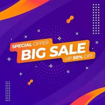 Big sale web banner template Premium Vector