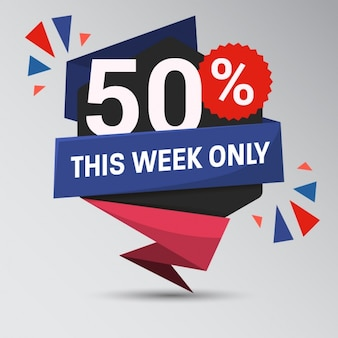 Big sale week background