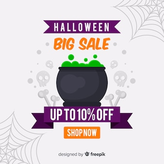 Big sale with melting pot filled with toxic foam