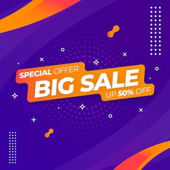 Шаблон веб-баннера big sale