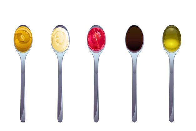 Big sauce in spoons set