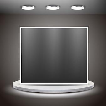 Big screen in a room