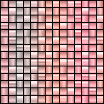 Big set of 196 gradient backgrounds in rose gold and black