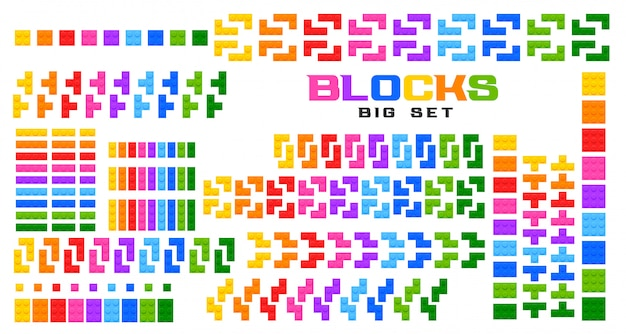 Big set of blocks toy in many colors