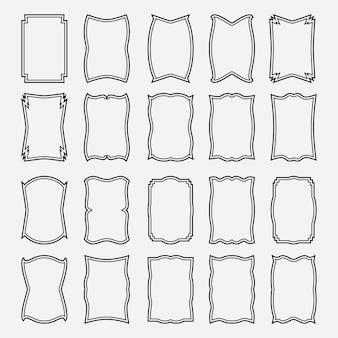 Big set of frames.