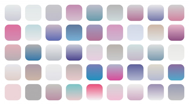 Big set of soft gradients combinations swatches