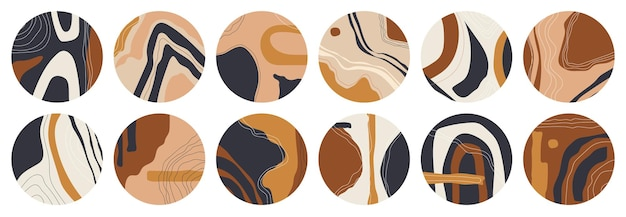 Big set of various highlight covers. abstract backgrounds.