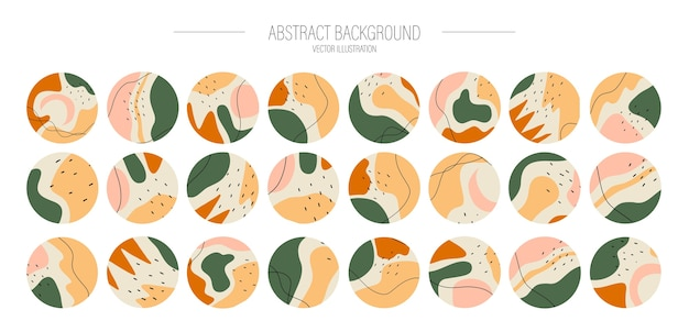 Big set of various highlight covers. abstract with various shapes, for social media stories.