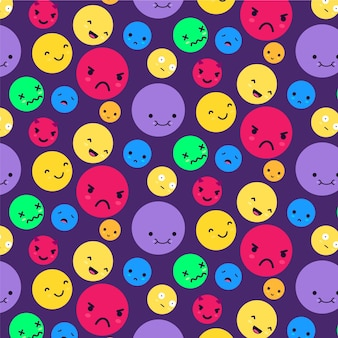 Big and small emoticons pattern template