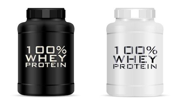 Big sport nutrition jar set.