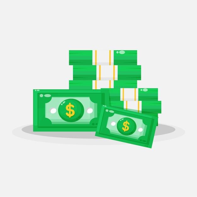 Дизайн иконок большой стопки банкнот