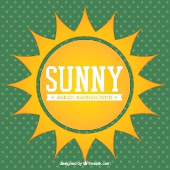 Big sun in a summer background
