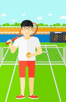 큰 테니스 선수.