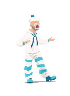 Big top circus clown mime
