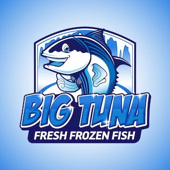Big tuna fresh frozen fish logo