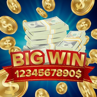 Big win banner for online casino