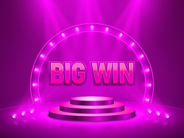 Big win casino banner for text.