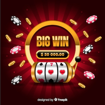 Big win slot concept in realistic style