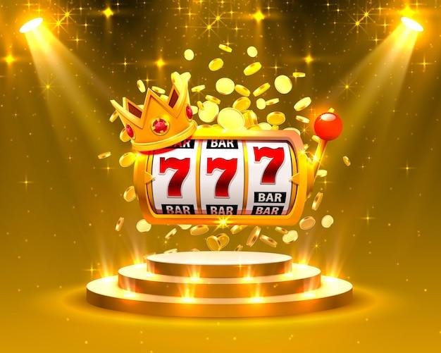Игровые автоматы с большим выигрышем 777 баннеров казино. векторная иллюстрация