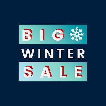 Big winter sale badge vector