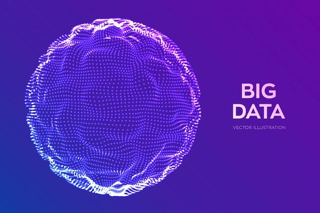 Сфера сетка волновая. абстрактная предпосылка науки bigdata.