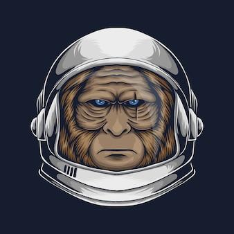 Бигфут-космонавт для вашей компании или бренда