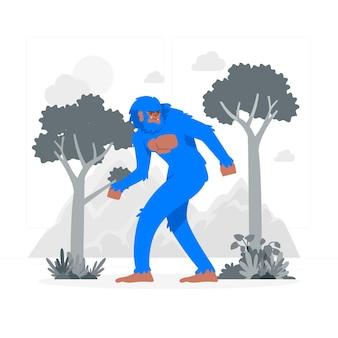 Bigfoot concept illustration