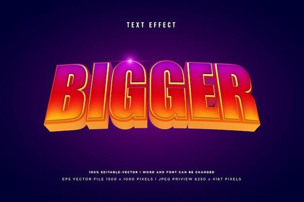 Bigger 3d text effect on dark purple background