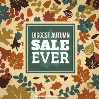 Biggest autumn sale ever background
