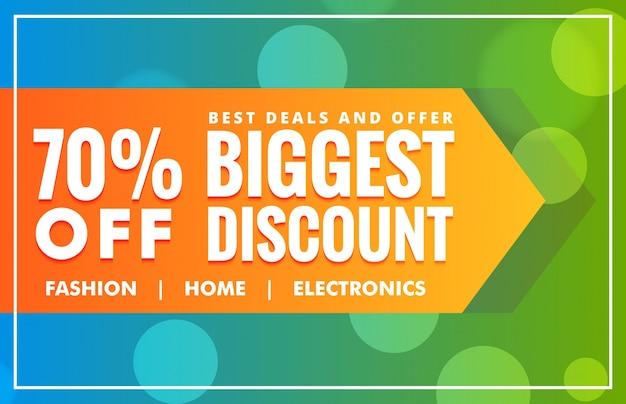 Biggest discount sale banner