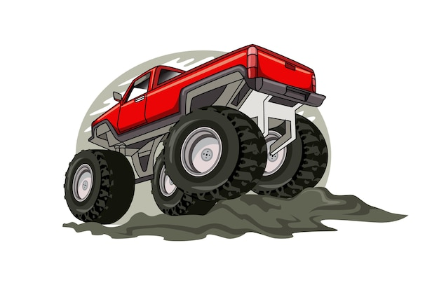 The biggest red monster truck