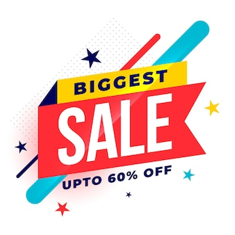 Biggest sale colorful template with offer details