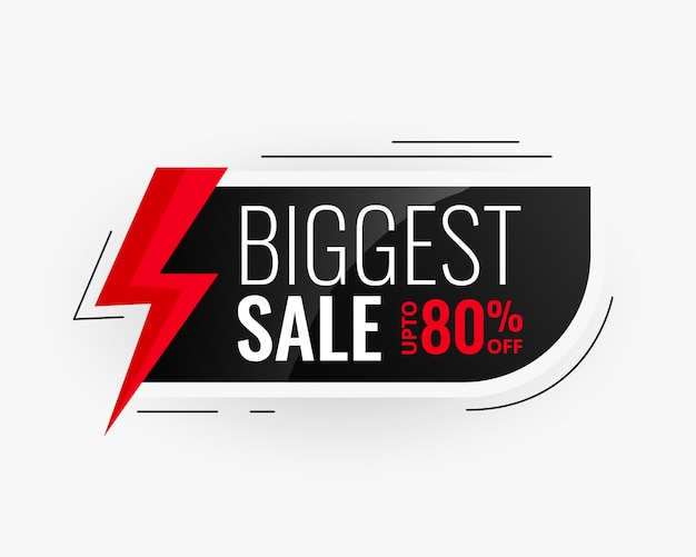 Biggest sale modern banner design