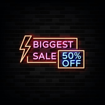 Biggest sale neon signs template neon style
