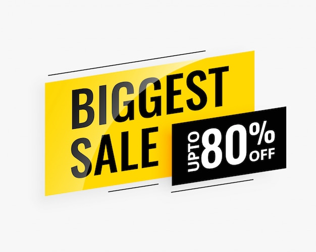Biggest sale promotional banner