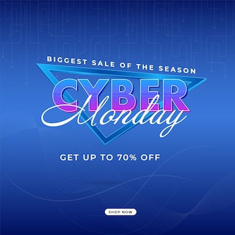 Biggest sale of the season cyber monday poster design